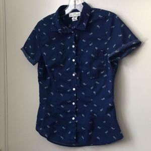 Logg H&M Sunglasses Print Button-up Shirt S